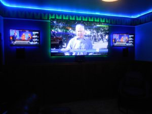 Seahawk Fan Cave Home Theater Design.